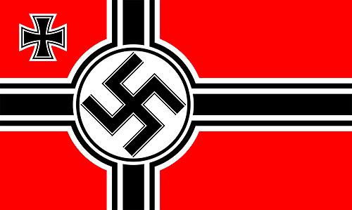 Natsien laivaston lippu. Kuva: Wikimedia Commons