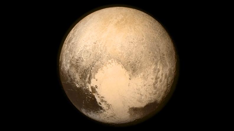 Plutohan se siinä. Kuva: EPA/NASA