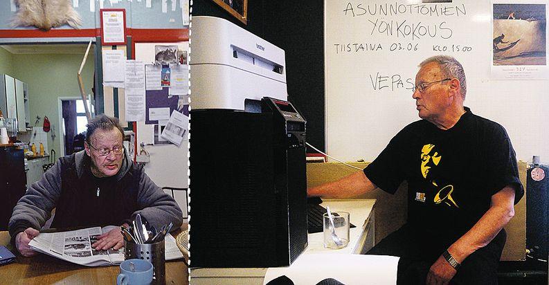 Reijo on tehnyt monta vuotta työtä asunnottomuutta vastaan. Kuvat: VVA ry