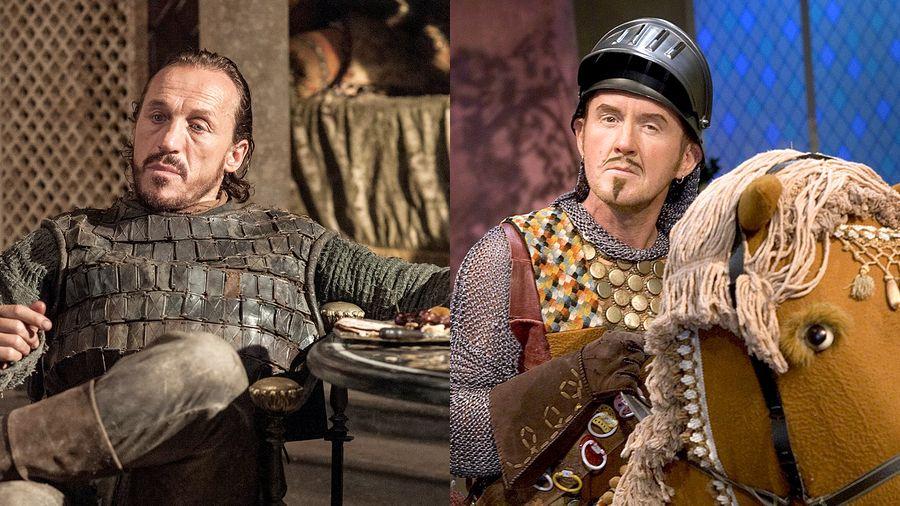 Veljekset kuin ilvekset? Jerome Flynn ja Jukka Leisti. Kuva: HBO ja Yle.