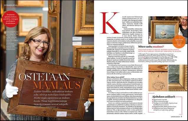 TAIDE Uusi Ostajan opas -sarja antaa vinkkejä antiikin, taiteen ja designin ostajalle. Ensimmäisessä osassa Tuija Peltomaa neuvoo, mihin kannattaa kiinnittää huomiota, kun ostaa vanhan maalauksen.