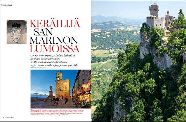 KULTTUURIMATKA San Marinon kääpiövaltioon mahtuu paljon historiallista nähtävää. Keräilijöille on tarjolla keramiikkaa, filateliaa ja numismatiikkaa. Antiikki & Design järjestää toukokuussa lukijamatkan San Marinoon ja Italiaan.