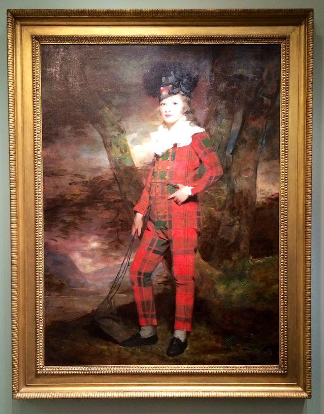 Tulevaa kevätmuotia? Sir Henry Raeburn (1756-1823): Sir Euan Murrey-Macgregorin muotokuva. Hinta 1,3 miljoonaa euroa.
