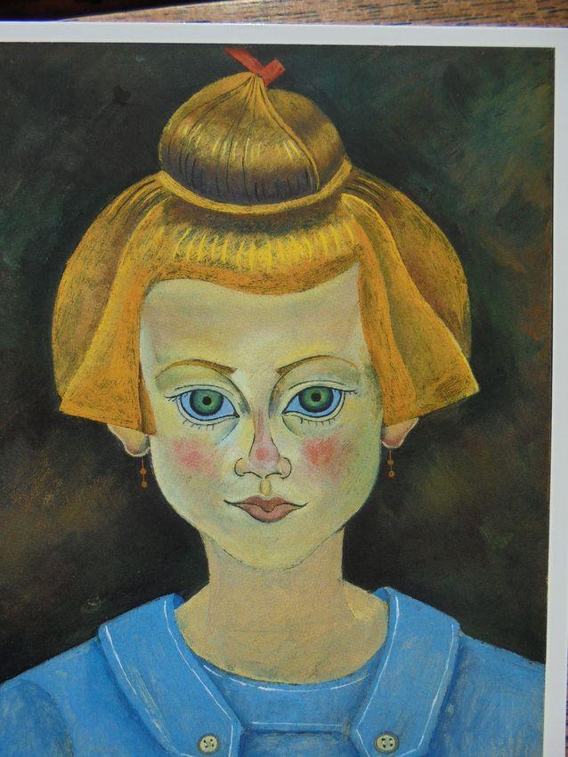 Joan Miro Retrat d´una vaileta, 1919. Kuva postikortista