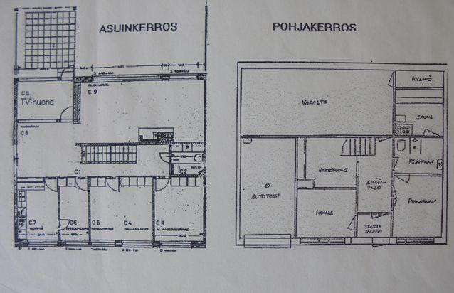 """Asunnossamme oli ostohetkellä rakennuspiirustusten mukainen pohjaratkaisu. Olohuoneessa oli viherhuone, lasiseinällä rajattu erillinen tila, """"Tv-huone"""", """"akvaario"""", jonka purimme. Alakerrassa oli suuri varastotila, jossa myyntihetkellä oli suuri pienoisrautatierata."""