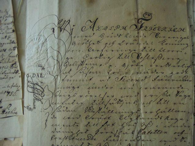 Kirje vuodelta 1760