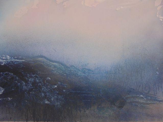 Tämä William Turner-henkinen maalaus voisi hyvinkin kuvata myrskyävää Atlantin valtamerta. The Wawe 2015.