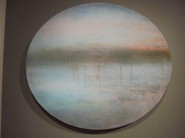 Eternity 2014. Teos on maalattu vanhaan sateliittiantenniin. Voiko kauniimpaa uusiokäyttöä olla?
