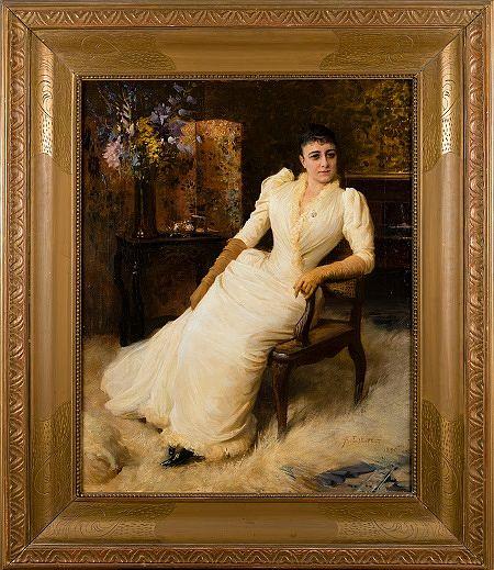 Albert Edelfelt: Madame Cohen (1890). lähtöhinta 150 000 e, Bukowskis.