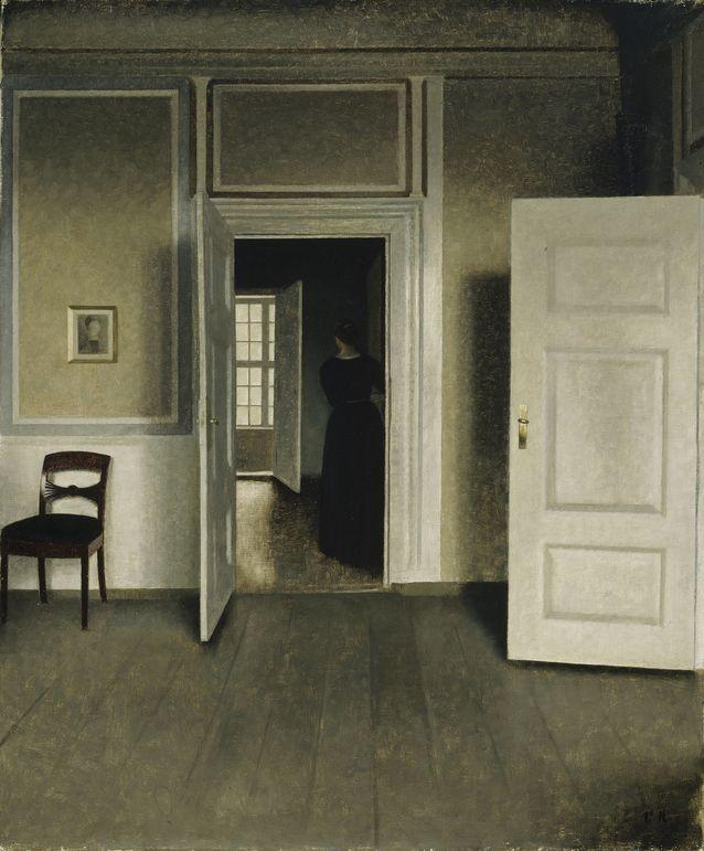 Sisäkuva Strandgade 30. 1905, Tämä maalaus on Ateneumin taidemuseon omistuksessa, joten sitä on mahdollisuus katsella myös näyttelyn päätyttyä. Kuva  Kansallisgalleria/ Hannu Aaltonen