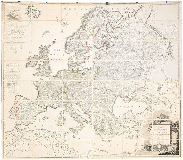 Euroopan kartta vuodelta 19807. Kartta kuvaa Eurooppaa, jolloin Suomi kuului Ruotsiin. Muutama vuosi myöhemmin, 1810, Suomesta päätyi Venäjälle, autonomiseksi suuriruhtinaskunnaksi. Suurikokoisen kartan (126 x 146 cm) lähtöhinta oli noin 425 e, Stockholms Auktionverkissä.