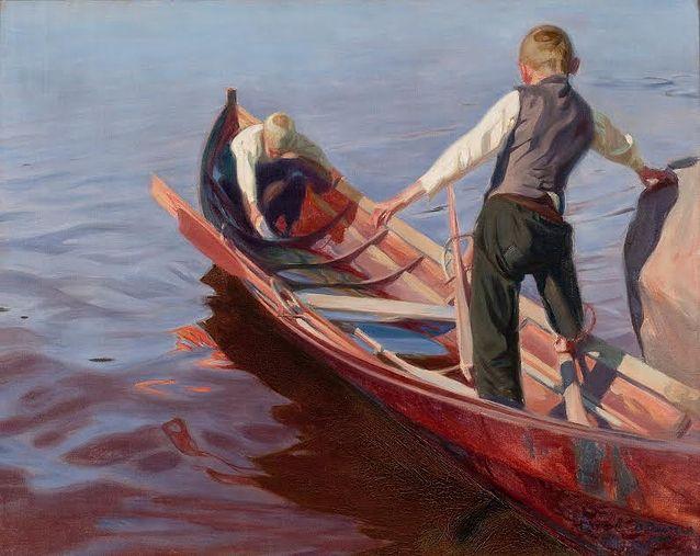 Oskari Paatela, Veneretki, 1905, 92,5x115, Kuva Bukowski