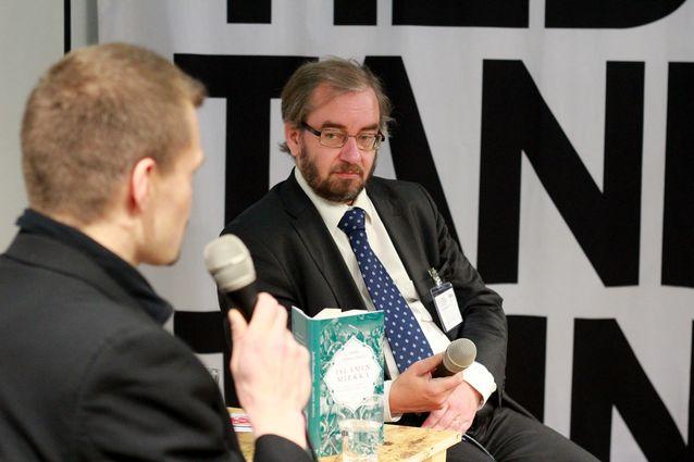 Jaakko Hämeen-Anttila Helsingin Kirjamessuilla 2012. Kuva: Mika Federley.