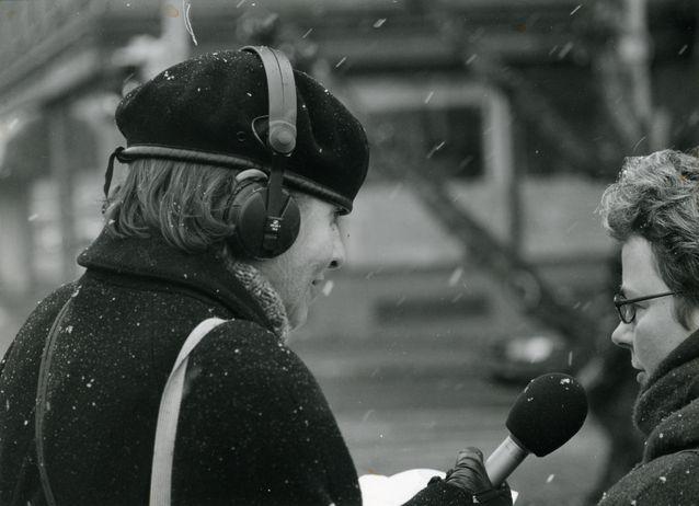 Satoi tai paistoi - aina median käytettävissä! Kuva Laura Kolben yksityisarkistosta.