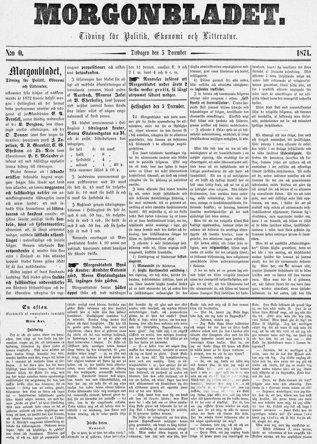Bild: Nationalbiblioteket, digitaliserade tidningar.