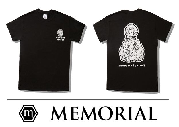 Skate Monk Tee. Illustration by Daniel Graham a.k.a Natas Design.​
