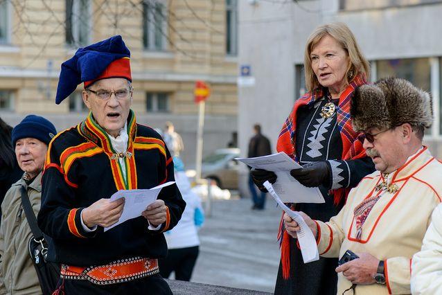 Saamelaisten päivä 6.2.2014. Kuva: Mika Federley