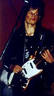 Jan Fast som ung punkgitarrist.