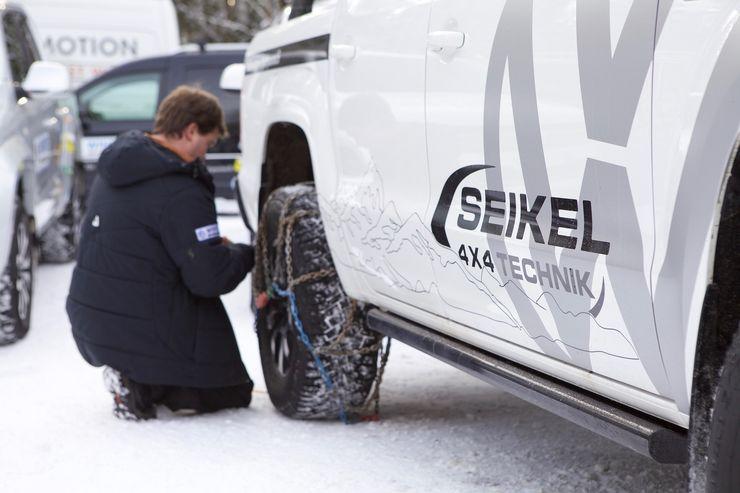 Lumiketjut parantavat etenemiskykyä liukkaissa olesuhteissa