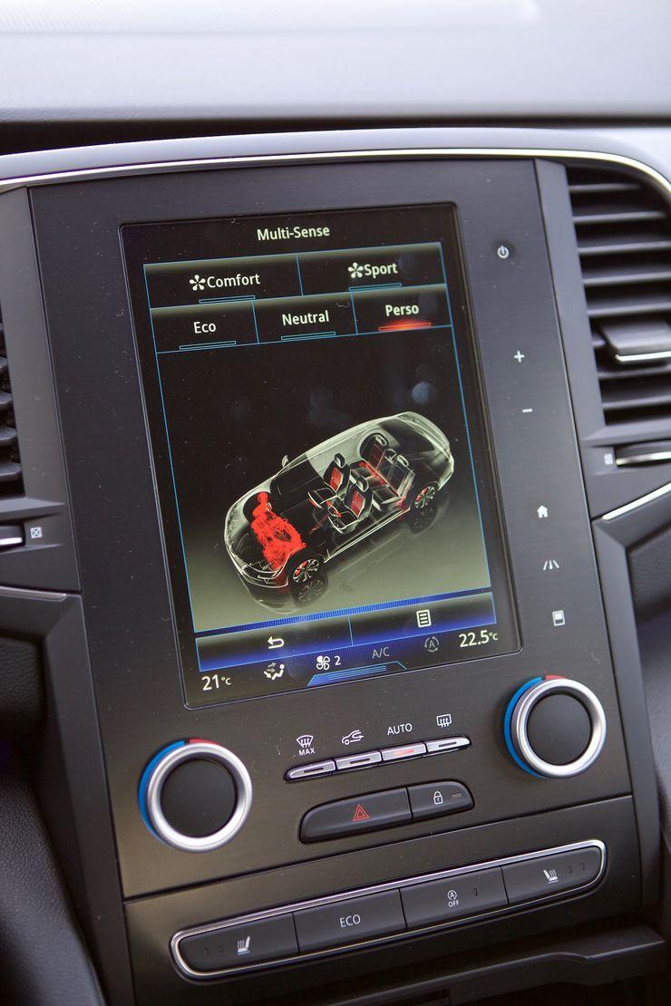 Multi-Sense-ajotapavalintaa löytyy neljä ennakkoasetusta ja vapaasti räätälöitävissä oleva Perso-asetus