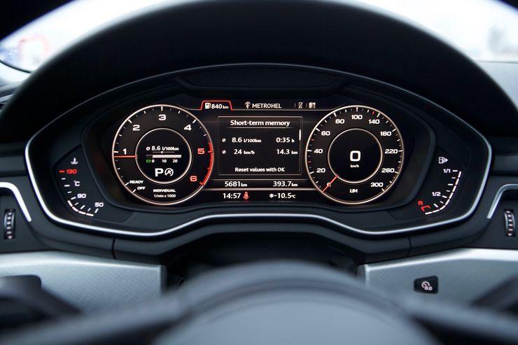 Valikoista löytyy myös perinteiset ajotietokoneen näkyvmät