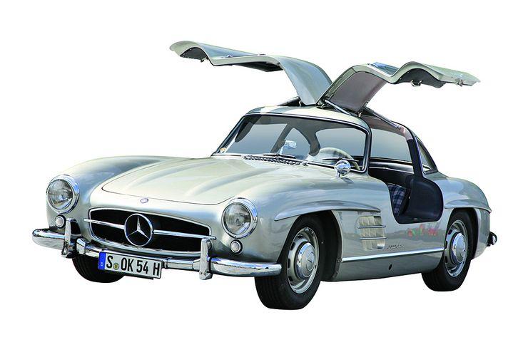 """Wagenerin valitsema ikoni: Mercedes 300 SL. """"Mahtavat selkeät pinnat, vahva autourheiluperimä – tämä auto oli aikaansa edellä."""""""