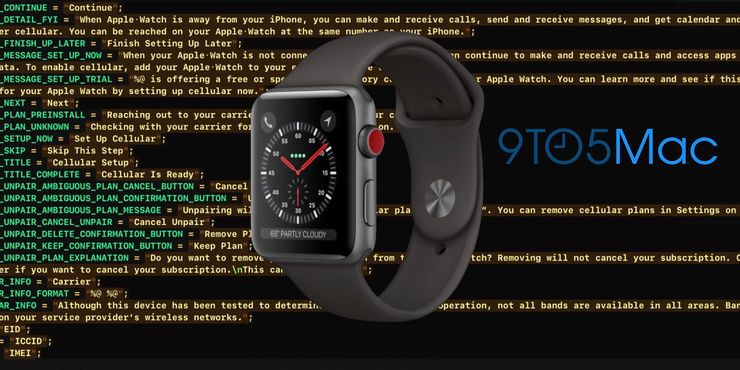Uusi Apple Watch, joka erottuu erityisesti punaisella kruunupainikkeen päällä, paljastui jo Applelta vuotaneesta iOS 11 -ohjelmiston GM-versiosta. 9to5Macin julkaisema kuva.
