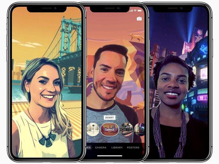 Applen Clips-sovellus saa uuden Selfie Scenes -toiminnon.