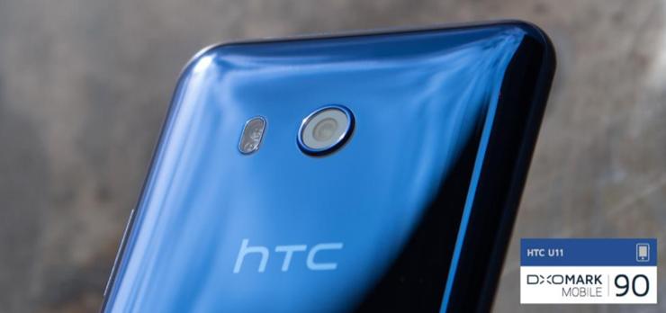 HTC U11 sai DxOMarkin testissä ennätyspisteet, 90, ja on näin sen mukaan toistaiseksi paras kamerapuhelin.