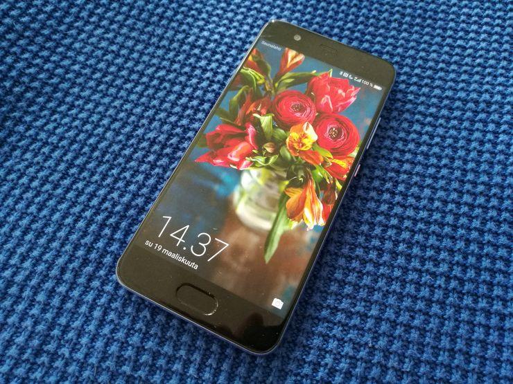 Huawei P10:ssä on 5,1 tuuman näyttö ja sormenjälkitunnistin löytyy nyt edestä.