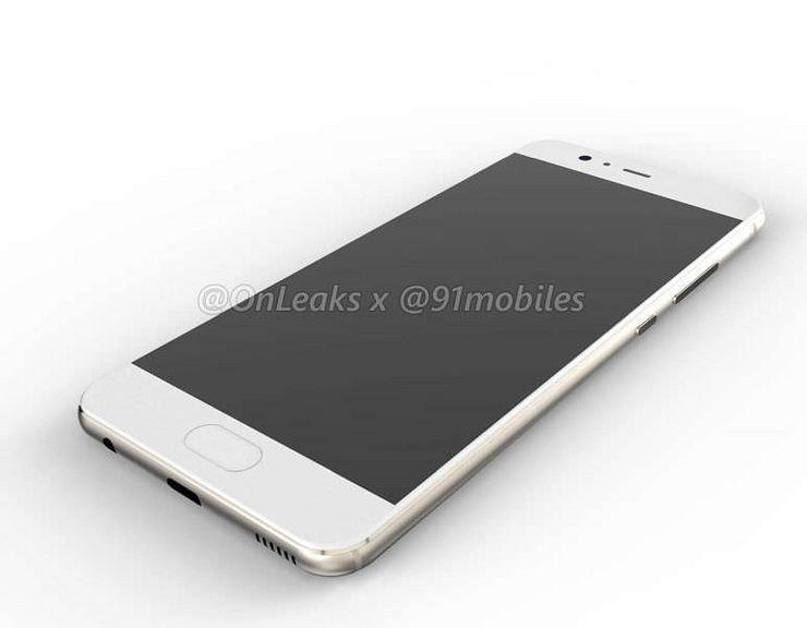 Huawei P10 edestä. Mukana kotinäppäin, jossa epäilemättä sormenjälkitunnistin.