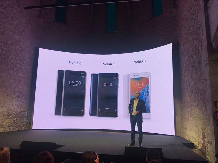 Nokia 3, Nokia 5 ja Nokia 6 julkistettiin helmikuussa.