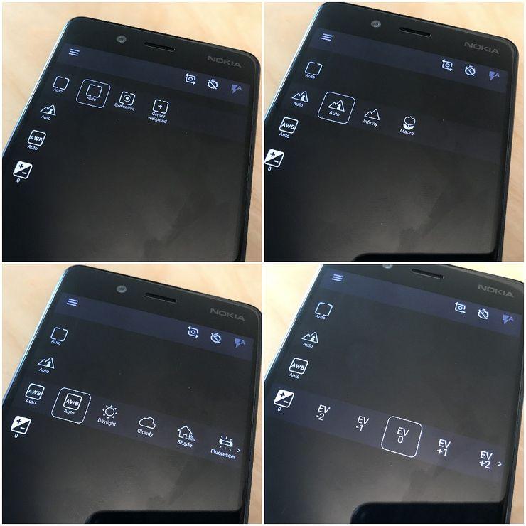 Nokia 8:n kamerasovelluksen manuaalitilan asetukset ovat varsin yksinkertaisia ja tarkemmat säätömahdollisuudet puuttuvat.