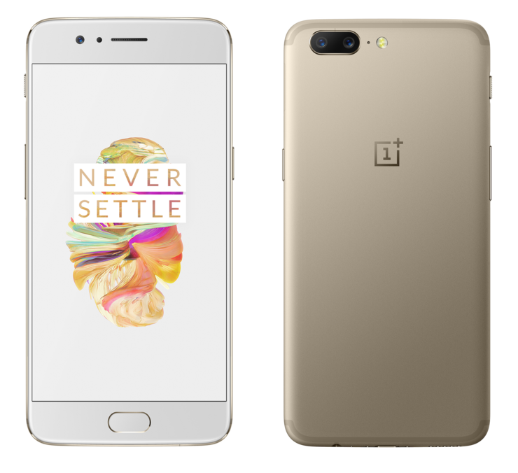 OnePlus 5 Soft Gold.