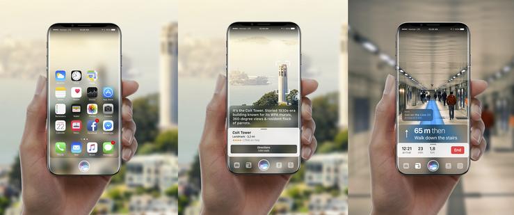 Gabor Baloghin aiemmin tekemä konseptikuvaa siitä, miltä iPhone X:n sivuille asti ulottuva näyttö olisi voinut näyttää.