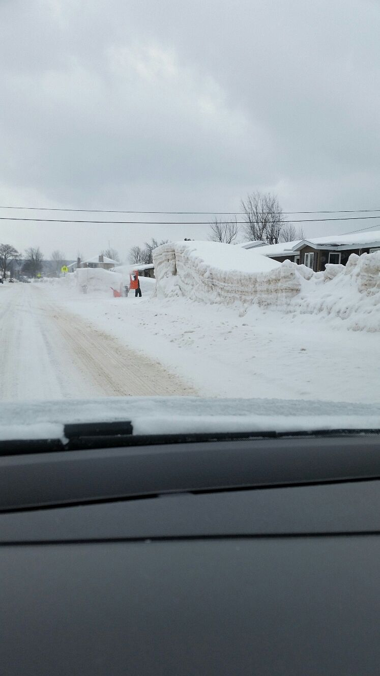 Negaunee,Mi after city snowblower and truck hauled snow out​