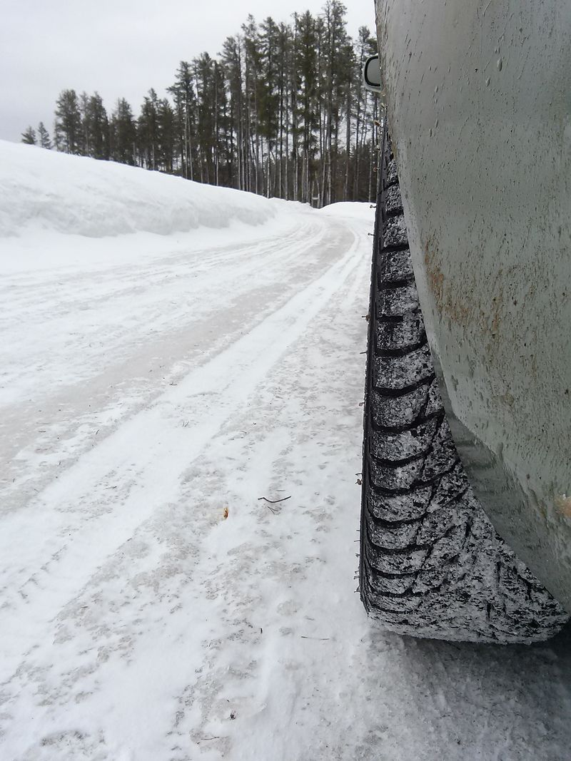 these tires just beg to be driven on Ice​