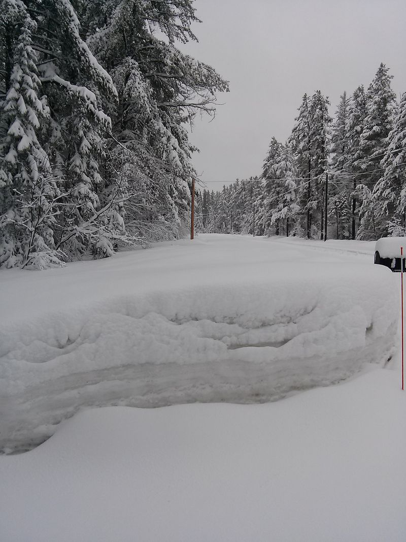 "over 25"" of snow on the ground where we live  Over 30"" 7 miles northwest of us.​"