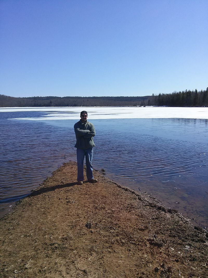 Made it to Silver Lake , the last of the ice on the eastern & southern shore​
