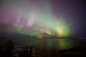Recent Aurora Borealis event last week , courtesy of Lake Superior photo​