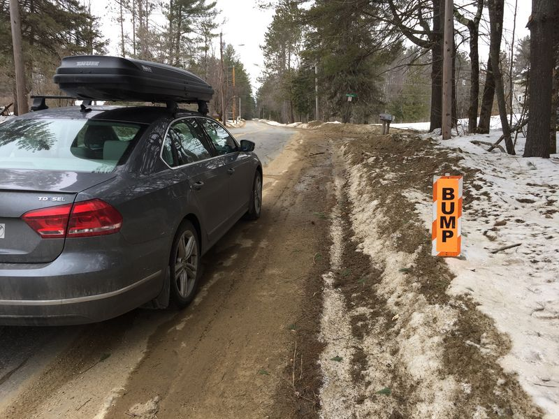 The dreaded frost heave sign.​