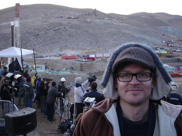 Janne Hopsu oli paikalla seuraamassa kaivosturman pelastustapahtumia lokakuussa 2010 lähellä Copiapóta Chilessä.