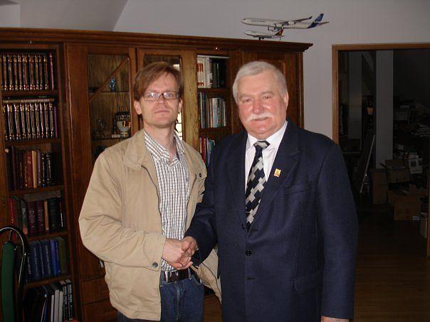 Janne Hopsu tapasi Lech Wałęsan Gdanskissa.