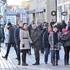 Vaikka valkeaa joulua ei saatu Raumalle, sää suosi julistustekstiä kuuntelemaan saapuneita aattoaamuna.