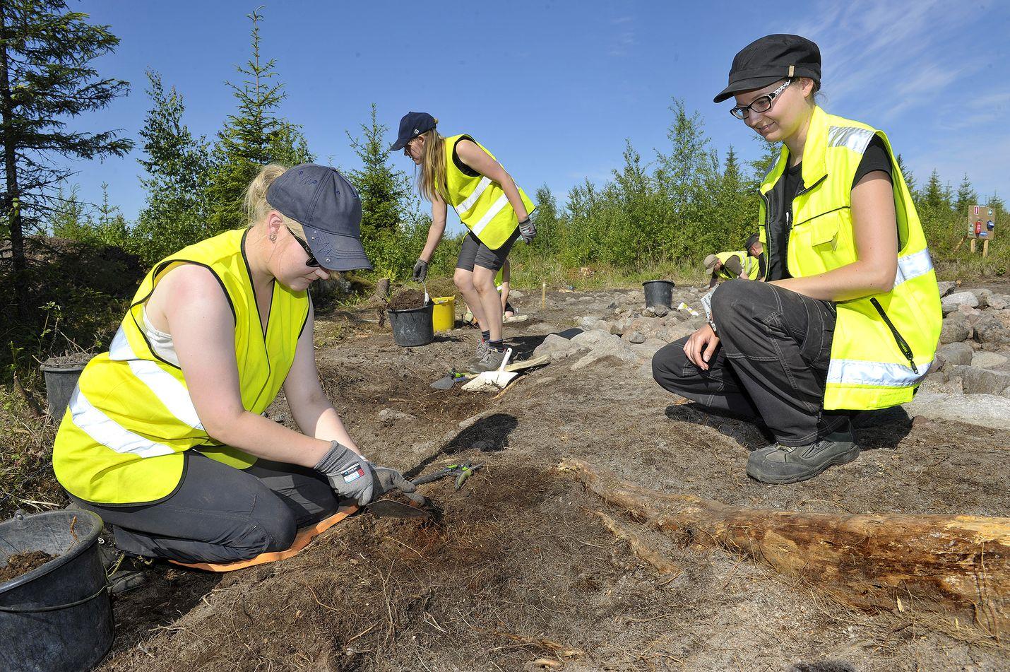 Elliniityllä tehtiin yleisökaivauksia jo viime kesänä. Kuva: LS-arkisto/Juha Sinisalo