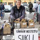 Jarmo Siivosen torpöydältä saattoi ostaa perunaa.