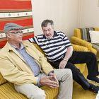 Keittiömäellä lapsuutensa viettäneet Harri Vanne ja Rainer Aura muistelivat menneitä.