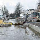 Nortamonkadun siltatyömaa on veden varassa.