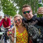 Heidi ja Juha Huuskonen saapuivat RMJ:hin Vantaalta. Päämääränä David Guetta!