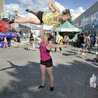SirkusUnionin Duo Saras esitti upeaa pariakrobatiaa.